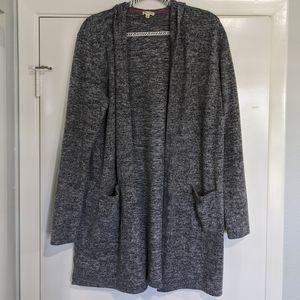 Lily White Soft Hooded Cardigan W/ Pockets XL